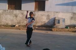 Student demonstrating basic skills