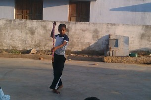 Student demonstrating basic skills