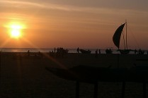 Sunset on Negombo beach