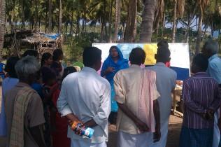 Raisa - Project Manager explaining various organic farming methods