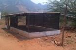 Finished goat shed
