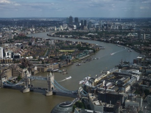 View from The Shard of London Bridge