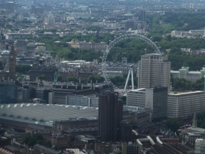 View from The Shard of the London Eye