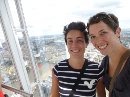 Me and Liz in the Shard August 2013