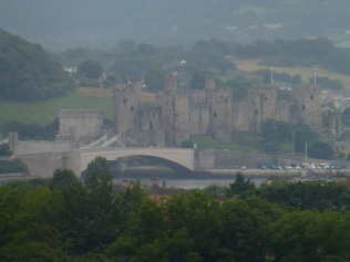 Conwy Castle and estuary